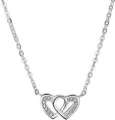 Zilveren The Jewelry Collection Selected Jewels Zirkonia Heart Ketting 1321506 (Verstelbaar: 41-45 cm)