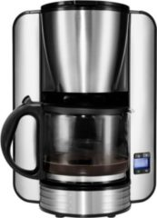 MEDION® Kaffeemaschine MD 16230, Timer-Funktion, Tropf-Stopp, 1080 Watt, 1,5 L Fassungsvermögen, silber
