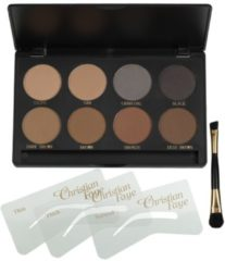 Bruine Christian Faye Eyebrow Make Up wenkbrauwpoeder - Professional kit