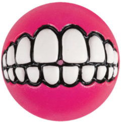 Rogz Grinz Treat Ball Medium - Hondenspeelgoed - Roze M