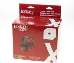 Levelfix kruislijnlaser - CL202G - zelfnivellerend - horizontale en verticale lijn - groen - 556122