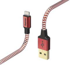 Rode Hama 00178299 1.5m USB A Lightning Rood mobiele telefoonkabel