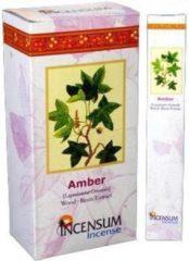 Amber wierook - Incensum - natuurlijke Indiase wierook - doosje van 24 pakjes