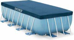 Donkerblauwe Zwembadhoes / Afdekzeil - Zwembad - 400 x 200 cm - Intex - Frame - Rechthoek - Beschermhoes