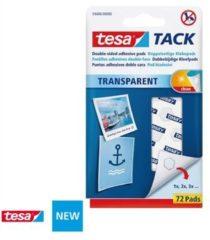 Witte 72x Tesa Tack plakrondjes/pads - Zelfklevend/dubbelzijdig tape - Plakrondjes/pads voor o.a. foto's, tekeningen en kaarten