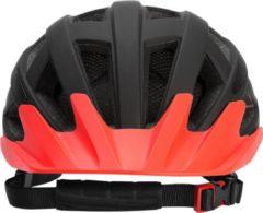 Fietshelm kind, zwart-oranje, maat M, kinderhelm, met veiligheidslampje, mountainbikehelm