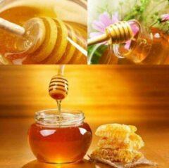 Bruine Vardaan Honing lepel - Dipper - Hout - Honeydripper - Keukengerei - Ontbijt - Hout - 15.5 cm
