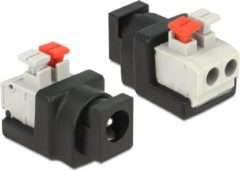 DeLOCK Adapter DC 5.5 x 2.1 mm female > Terminal Block with push button 2 pin (65524)