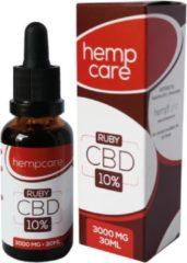 Hempcare Ruby [10% CBD olie 10 ml 1000mg]: - vegan - biologisch - ontstekingsremmend - pijnverlichting - adhd - focus - ontspanning - voedingssupplement - artrose - cannabidiol - rust - natuurlijk - reuma - hennepzaadolie - plantaardig