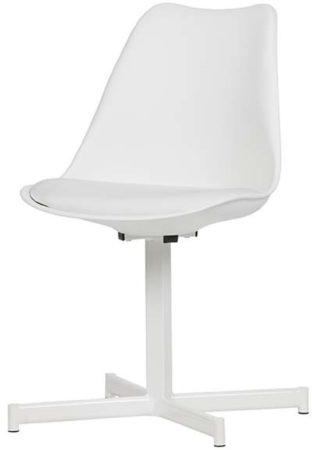 Afbeelding van Vtwonen meubelen Vtwonen Flow eetkamerstoel kunststof wit