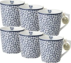 Blauwe Laura Ashley Minimokken Floris (Set 6 stuks)