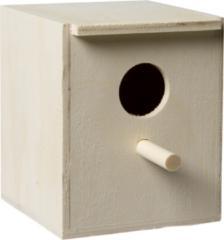 Fauna Broedkastje Exoten Opening 32 Mm - Vogelbroedbenodigheden - 10.5x11x13.5 cm Houtkleur