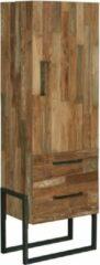 Bruine Teakea Potenza Cabinet 1 deur Greep Links | 2 laden | 66x45x190