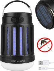 Zwarte Anti Muggenlamp LED Camping Lamp | Thuis Muggen Vanger Lamp Oplaadbaar | King Mungo