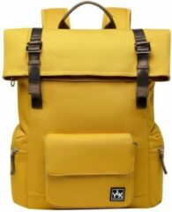 YLX travel gear YLX Original Backpack 2.0. Oker geel. Recycled Rpet materiaal. Eco-friendly