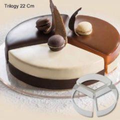 "Roestvrijstalen Martellato Cake-Idea Bakringenset ""Trilogy 22cm"""