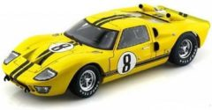 Ford GT 40 MK II 1966 Nr# 8 Geel / Zwart 1-18 Shelby Collectibles