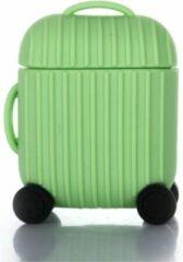 Hidzo Hoes Voor Apple's Airpods - Koffer - Groen