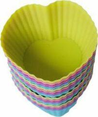 ZijTak - Hartjes cupcake - 12 + 4 GRATIS - Muffin - Muffinvorm - Bakken - Taart - Gebak - Vorm - Gratis verzending - Roze Groen Blauw Paars