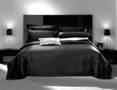 Silkmood Zijden dekbedovertrek,Houtskool zwart 200x200cm, 100% zijde,600thread count (22momme)