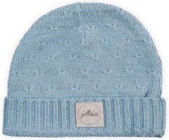 Lichtblauwe Jollein Muts 9 tot 18 mnd Soft knit soft blue