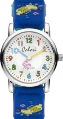 Colori Playtime 5 CLK063 Kinderhorloge met Trompet - Nylon Band - Ø 28 mm - Donker Blauw