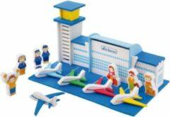 Blauwe Sevi Speelset Soft Vliegveld 61-delig