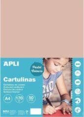 APLI Zalmroze Karton A4 170 g/m² - 50 vel