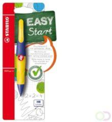 Stabilo vulpotlood Easy Ergo paars/geel voor rechtshandigen blister met 1 stuk