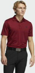 Bordeauxrode Adidas Performance Primegreen Poloshirt