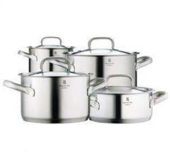 Zilveren WMF Gourmet Plus - 4 delig- RVS Pannenset Pannenset - 4-delig