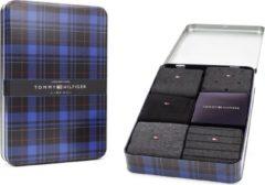 Zwarte Tommy Hilfiger Birdeye Tin Giftbox 5P Heren Sokken - Maat 43-46