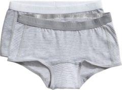 Ten Cate - Meisjes - 2-Pack Shorts Mint - Grijs - 134/140