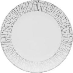 Zilveren ROSENTHAL STUDIO LINE Rosenthal TAC Gropius Skin Platinum - Ontbijtbord - � 22 cm