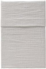 Licht-grijze CottonBaby Wieglaken soft lichtgrijs