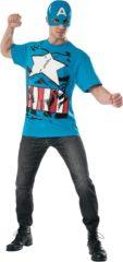 Blauwe The Avengers Captain America™ Avengers kostuum voor volwassenen - Verkleedkleding - Maat L