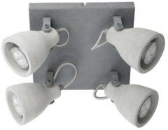 Beliani Plafondlamp beton lichtgrijs MISTAGO IV