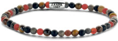 Oranje Frank 1967 Beads 7FB 0457 natuurstenen armband - stretch - gemengde kleuren