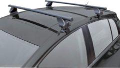Zwarte Twinny load Dakdragerset Twinny Staal S46 Lexus/Nissan/Skoda/Seat/Toyota/Volkwagen Diversen (voor auto's zonder dakreling)