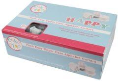Witte Cake Star Push Easy Uitstekers Alfabet Hoofdletters Set/26