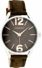 OOZOO JR Horloge Croco Mat Bruin | JR283