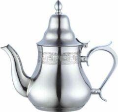 Zilveren Marocstore.nl Marokkaanse inductie berad theepot 0.8L