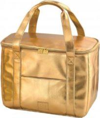 Gouden BE CooL CITY M Gold Koeltas  Design   Premium   Coolingbag   beachtas   16.5 ltr