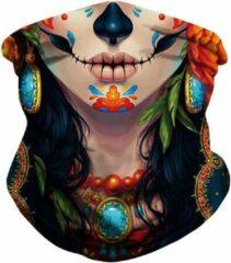 Grolla Hija de la Muerte - Multifunctionele Faceshield Sjaal - Bandana 3D Face Mask - Nekwarmers Balaclava