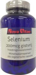 Nova Vitae Selenium 200 mcg gistvrij 180 Stuks