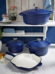 Grillpan Blue Magic GSW blauw/crèmewit