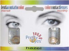 Pretty Eyes 1-Dag kleurlens 2P hazelbruin 2 Stuks