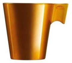 Lungo koffie bekers goud metallic 220 ml - Koffiemokken in stijl