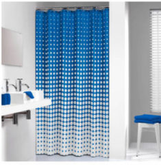 Blauwe Sealskin Speckles douchegordijn 180x200cm polyester royal blauw 233601323