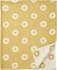 Rings organic cotton ledikantdeken geel - Klippan 90x140 cm
